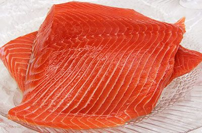 Wild King Salmon Filet in Local Wild Caught Sustainable Seafood at Ocean Bleu Seafoods