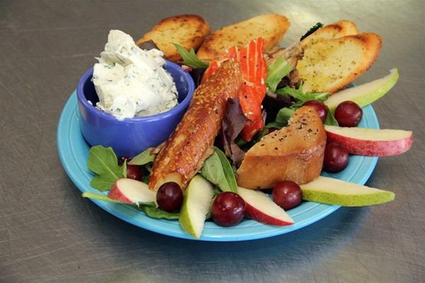 Smoked wild seafood platter   available on restaurant menu